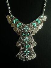 Necklace Moroccan Silver Ethnic Afghan Boho Gypsy Tribal Bohemian N1073