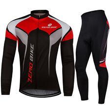Herren Atmungsaktiv Thermo Sport Jacke Fahrradtrikot & Radlerhose Langarm M-XXL