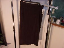 Bentley  Women's Coco Brown Faux Suede Stretch Skirt With Zipper Back Size 20W