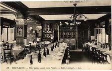CPA  Pont-Aven Hotel Julia, ouvert toute l'année - Salle á Manger     (206620)
