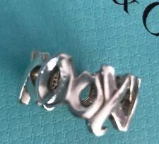Tiffany & Co. Xo Anillo Plata de Ley Abrazos & Besos Talla 5 Picasso Flash