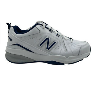 New Balance 608 V5 (MX608WN5) Classic Athletic Shoe White Navy Mens 10.5 4E Wide