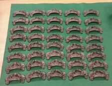 40 DRAWER PULLS EMBOSSED CAST IRON ORNATE VICTORIAN STYLE