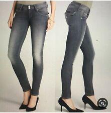 Hudson Flap Pockets Stonewash Black Skinny Jeans Size 28 Women's