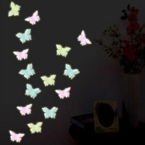 6 Pcs Luminous Stickers Kids Room Butterflies Home Decor Glow In Dark Bedroom