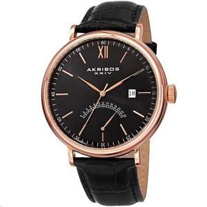 Akribos XXIV AK845RGBK Date GMT Retrograde Stainless Steel Mens Watch
