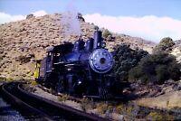 Original Slide Virginia & Truckee Railroad V&T 29 2-8-0 Steam Engine Nevada 1980