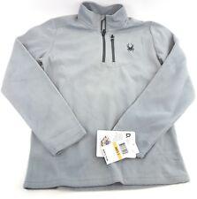 Spyder Men's Fleece 1/2 zip Pullover Gray Dry Weave Base Layer Size Small