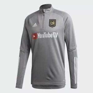 Adidas MLS Los Angeles Galaxy FC 3/4 Zip Pullover Jacket (Grey) SMALL FS7071 LA