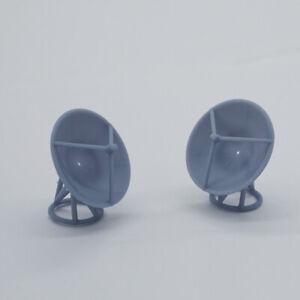 Outland Models Model Railroad Scenery Parabolic Antenna x2 Scale N 1:150