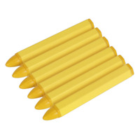 Sealey Tyre Marking Crayon - Yellow Pack of 6 - TST14