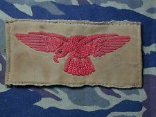 Old Italy Italian Cloth Flight wings  red on khaki removed from uniform