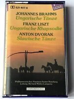 johannes brahms - franz liszt - anton dvorak  cassette