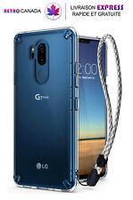 Coque pour LG G7 ThinQ 2018 Transaprent anti-adhérent avec protection anti-chute
