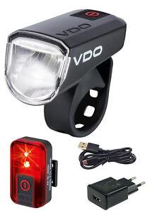 VDO Eco Light M30 Set - Plus Fahrradlampenset Fahrradlicht LED 30 Lux Rücklicht