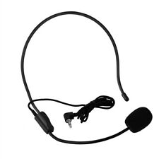 Professional Wired Head-mounted Headset Microphone Flexible Mic 3.5mm Jack