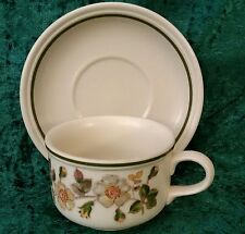 Vintage Marks & Spencer Autumn Leaves Breakfast Cup Saucer Coffee Hornsea 80s