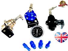 Black Universal Adjustable Fuel Pressure Regulator Oil Fil Gauge Turbo Injection