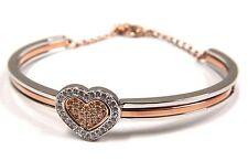 Retired Cupid Bangle Medium, Crystal Heart (3 In 1) Swarovski Jewelry #5195170