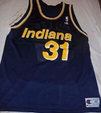 Reggie Miller Indiana Pacers CHAMPION NBA Basketball Jersey Snapback sz 48 XL