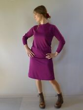 Vintage retro true 60s 10 S purple knit suit skirt top Montagut France very good