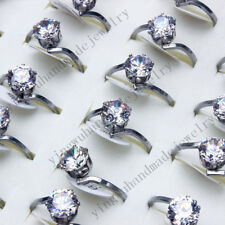 FREE wholesale lots 40pcsZirconia stainless steel Woman Fashion Rings jewelry