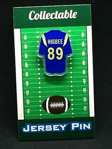 Los Angeles Rams Tyler Higbee jersey lapel pin-Classic Collectible