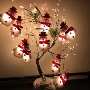 1.65M 10 LED Lights Snowman Christmas Tree Hanging Xmas Ornaments Decoration