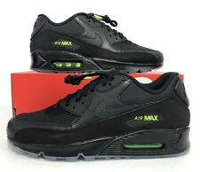 newest d10dc a53f8 Nike Air Max 90 Night Ops Black Volt Sneakers AQ6101-001 Men s Size 12