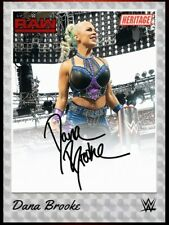 WWE Topps Slam Heritage 2020 Chrome Refractor Dana Brooke Sig Iconic [Digital]