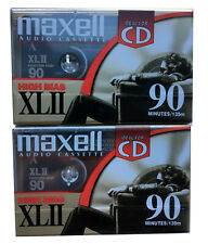 NEW Lot of 2 Maxell XLII 90 Minute Audio Cassette Tapes High Bias Type II Sealed