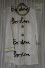 "Boden Summer Coat UK 12 Cream New ""Artisan"" Smock Cotton"