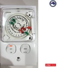 Clipsal Analogue Timer Controls TC32V24 Flush Timer Switch 250V 15A 24hours