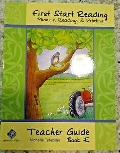 First Start Reading Teacher Guide Book E by M Tefertiller; Memoria Press  SALE!