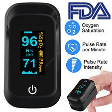 Fingertip Pulse Oximeter Blood Oxygen SpO2 Monitor PR PI Heart Rate Accurate