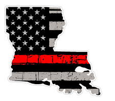 Louisiana State (C19) Thin Red Line Vinyl Decal Sticker Car/Truck Laptop/Netbook