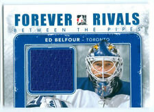 """ED BELFOUR """"BLUE BETWEEN THE PIPES GAME USED JERSEY"""" FOREVER RIVALS"""