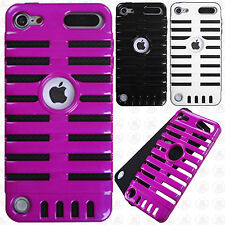 iPod Touch 5th 6th Gen Rubber Hybrid SKELETON Hard Silicone Cover +Screen Guard