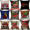 Cotton Linen Christmas Tree Home Decor Pillow Case Square Throw Cushion Cover