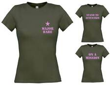 Ladies Military T-Shirts 8-16 Funny Fancy Dress Costume Hen Do Party Rude Joke