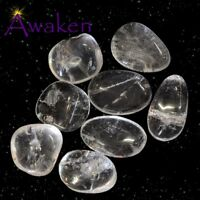 *ONE* CLEAR QUARTZ Natural Tumbled Stone Approx 15-20mm *TRUSTED SELLER*