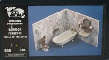 Verlinden 1:35 Bathroom Furniture Fixtures Bathtub Toilet Diorama Accessory #946