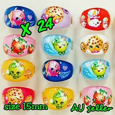 SHOPKINS RING KIDS LOOT BAGS LOLLY BAGS PARTY FAVOUR MIX DESIGN (24 pcs)