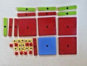 Algebra Tiles 35 p/pack Mathematics Homeschool NEW