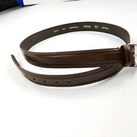 New Fossil Men's Belt   Brown Leather 44