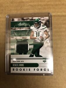 Denzel Mims 2020 Panini Absolute Rookie Force Jerseys SP #23 Rookie Card
