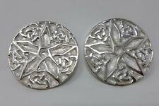 "Pentacle Pattern Altar Tile 3"" ( 2 Pcs )silver-plated brass disk"