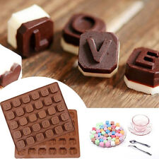 Silicone Alphabet Chocolate Mould Ice Molds Cake Jelly Sweet Candy Baking