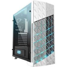 AZZA Onyx 260-weiß-2x 120mm FAN-Sichtfenster Echtglas-RGB-PC Gehäuse