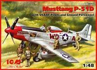 P-51 D MUSTANG CON PLANTILLA (MAYOR P. Mc KENNON USAAF ACE SEÑALES) 1/48 ICM